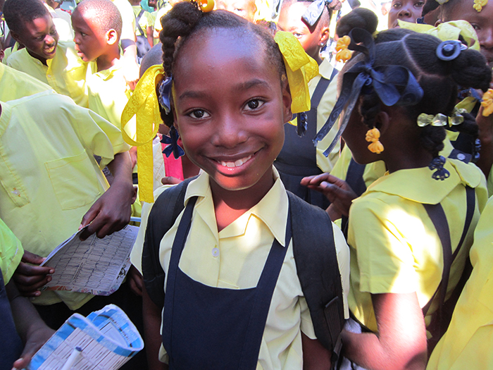Nedge at school - Haitian Families First